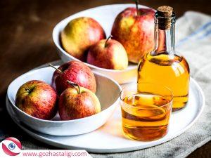elma sirkesi, elma sirkesi pamuk, göze elma sirkesi koyma,